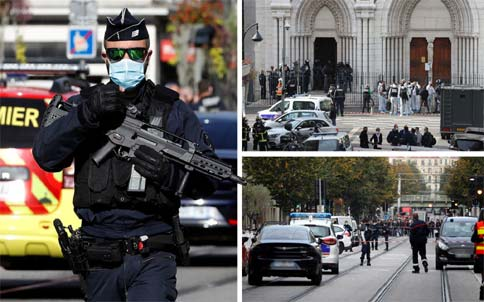 3 persons killed in knife attack at church in France