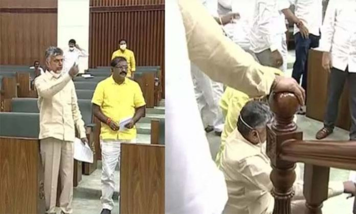 Naidu, 12 other TDP members suspended from Assembly