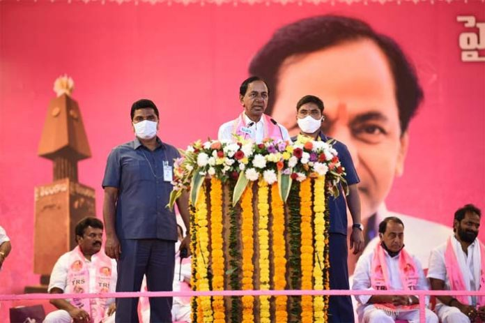 GHMC elections : Vote for TRS for peace, tranquility