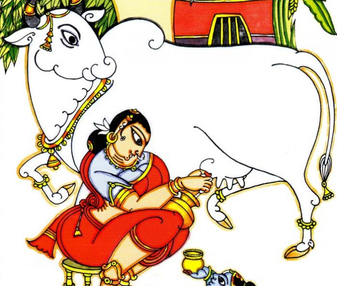 Krishna's association with cows and cowherds