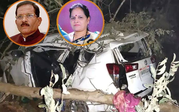 Shripad Naik, Union Minister's Car crashes, wife, PA Die