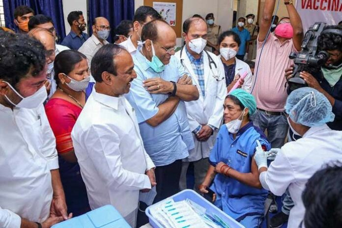 Why was KCR absent during Covid vaccine launch?
