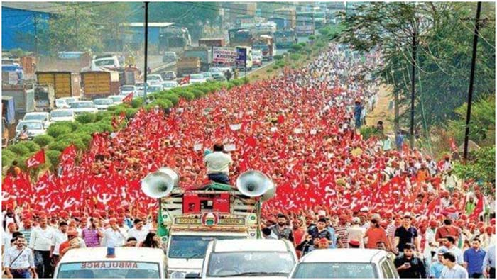 Peaceful protests of farmers in Bombay